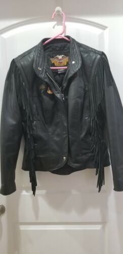 Small Preowned Davidson Very Jacket Jacket Ladies Small Nice Harley Black X0pw6qxwH
