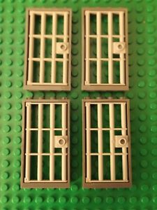Image is loading 4-LEGO-Door-Frames-1-x-4-x- & 4 LEGO Door Frames 1 x 4 x 6 With Barred Door \u0026 Stud Handles Police ...
