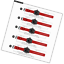 WOCCI-Silikon-Gummi-Uhrenarmband-mit-Schwarzer-Schnalle-Schnellverschluss-Ersat Indexbild 3
