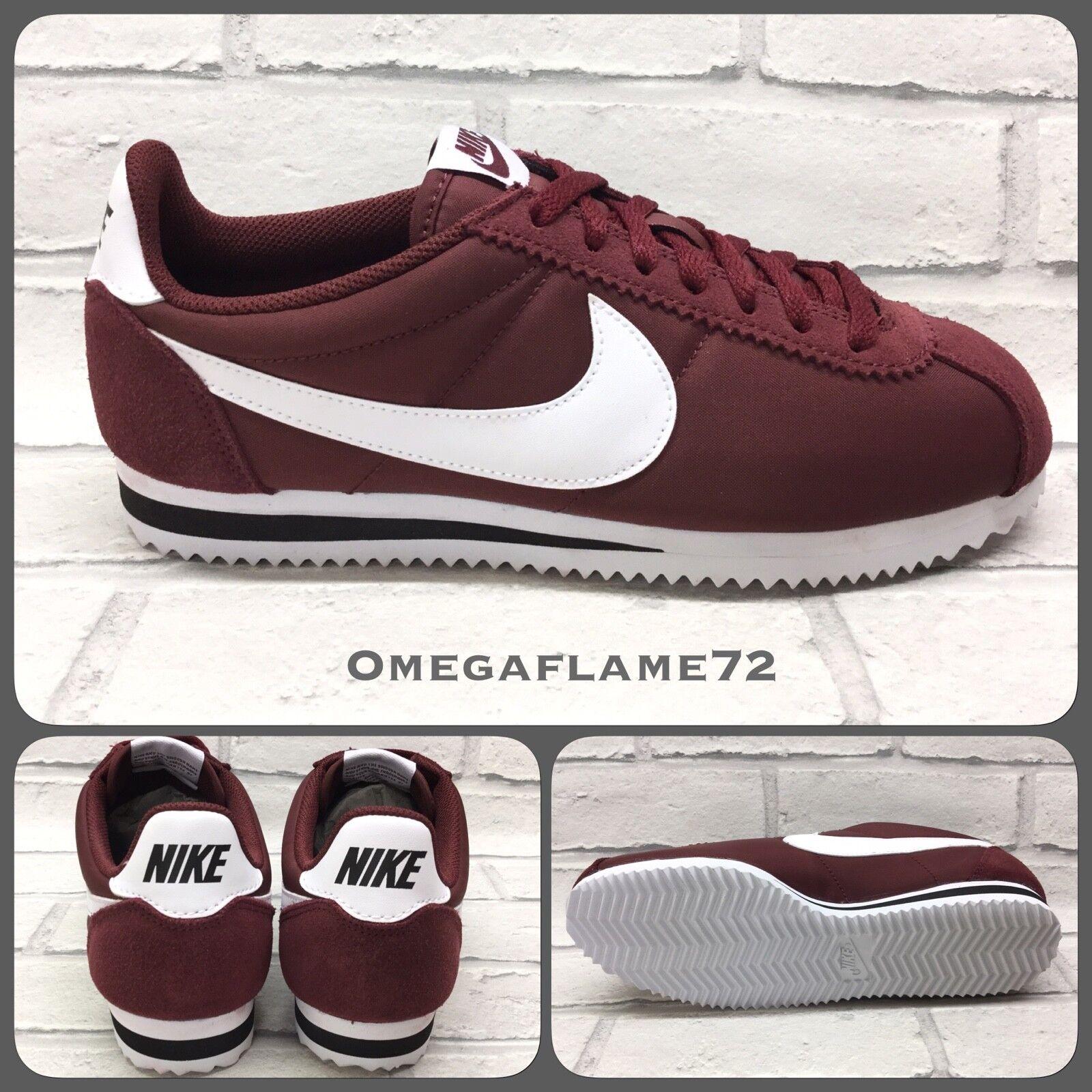 Nike Cortez OG Nylon, bordeaux & blanc 807472-601, UK 5.5, Eu 38.5, US 6
