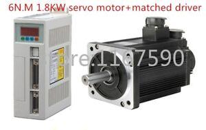 6N.M 1.8KW 3000RPM 110ST AC Servo Motor 110ST-M06030+ Matched servo motor driver