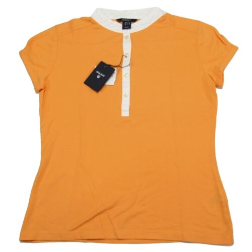 courtes manches Gant Polo A0407 shirt Orange T à Jersey Femme Femme nxtRndwEPI