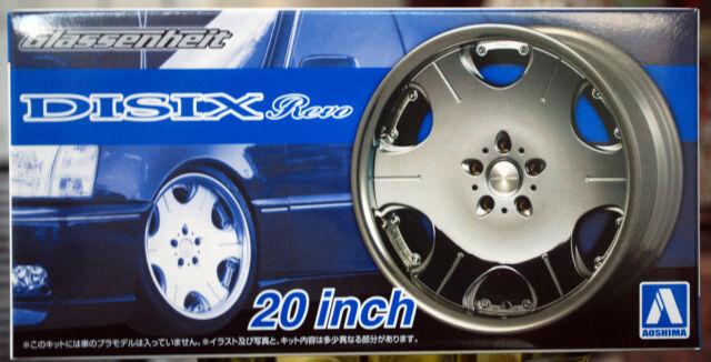 Aoshima 053737 Felgen Glassenheit DISIX Revo 20 Zoll inkl Reifen 1:24 #40