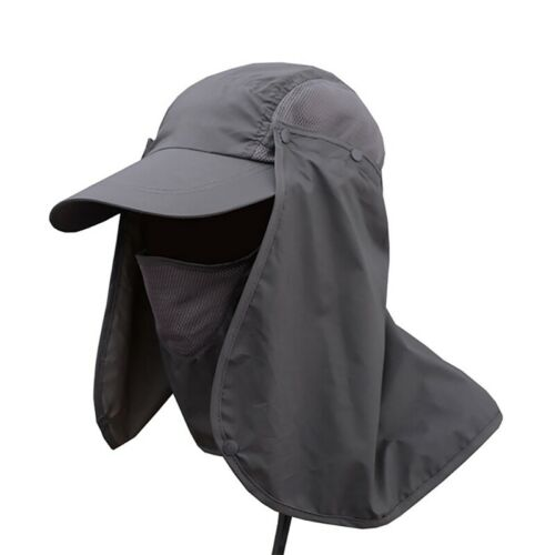 Fishing Sun Hat Face Neck Flap Hiking Sport Cap Outdoor UV Protection Visor Hats