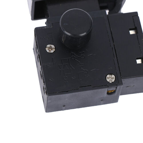FA2-6//1BEK Black 6A 250V Electric Drill Speed Control Trigger Button Switch ST