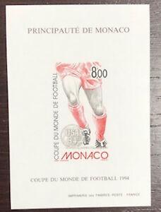 MONACO-bloc-special-n-25a-FOOTBALL-1994-non-dentele-TB-RARE-COTE-230
