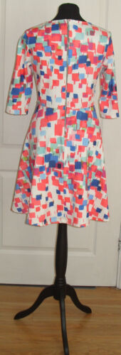 18 ROCHELLE HUMES Printed Jersey Skater Dress Size UK 14 16 20  RRP £62