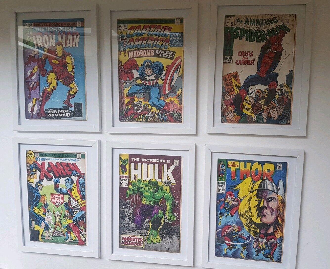 Marvel à thème cadres photos lot de 6