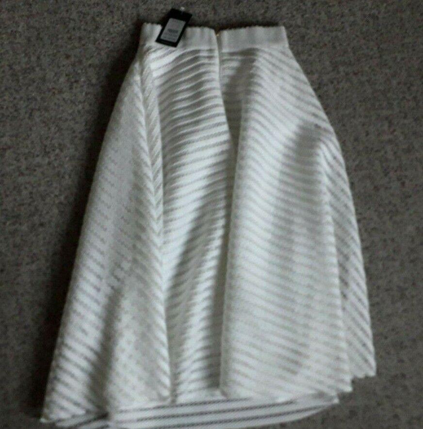 M/&s Midi Plissé A-Line jupe ~ taille 12 ou 14 ~ Noir /& Blanc Carreaux