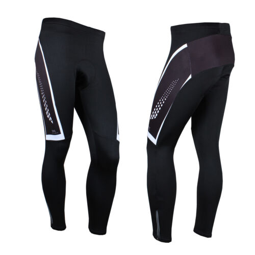 Men/'s Fleece Thermal Cycling Pants Padded Bike Bicycle Outdoor Sports Tights
