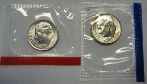 2003-P /& D CHOICE UNCIRCULATED ROOSEVELT DIMES IN MINT SET CELLO.