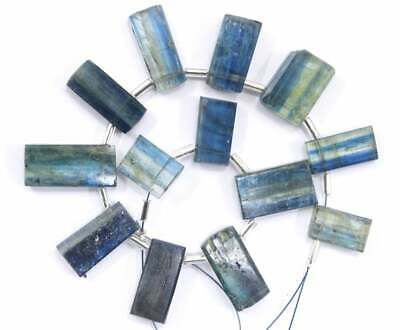 Smooth Rectangle Shape Cabochons High Quality 4 Pieces Natural Moss Kyanite Size 8x26-11x30 MM Making Blue Kyanite Jewelry Wholesale Price