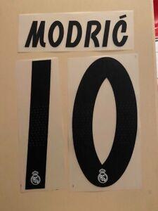 FLOCAGE Modric #10 Real Madrid Domicile 2018-2019 Home Nameset.