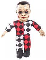 Haunted Hellequin Harlequin Clown Talking Doll Prop Mr122719