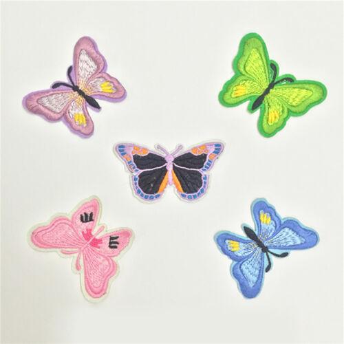 10pcs//Set Stickerei Schmetterling Nähen Eisen Auf Patch Abzeichen Appliqu Z K1B5