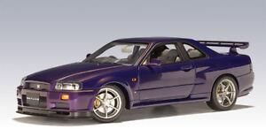 Nissan Skyline Gtr 1999 >> Details About Nissan Skyline R34 Gtr 1999 Midnight Purple 1 18 Autoart 77304 New Rare Show Original Title