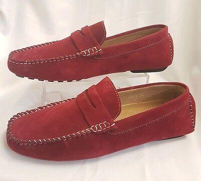 Herren Junge Schuhe Mokassins Made Italy 99EUR Gr 40 Rot slippers Wild