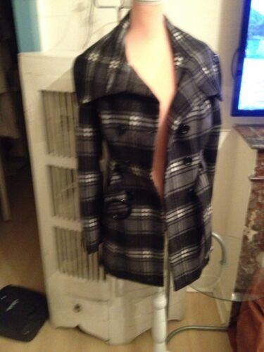 Plaid Oferta Talla Rinascimento Grey Coat Tartan Black S Plaid Plaid xYxqTR1B