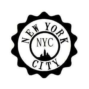 Image Is Loading New York City Seal Unmounted Rubber Stamp NYC