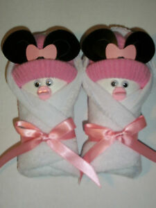 MINNIE-MOUSE-WHITE-PINK-LITTLE-SWADDLERS-DIAPER-BABY-SHOWER-FAVORS-GIFT-TOPPER