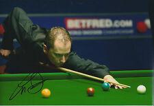 Graeme DOTT SIGNED Snooker Autograph 10x8 Photo AFTAL COA Brazil Master Finalist