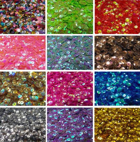 PAILLETTES 20 g 6 mm 1600 Pcs IRISIEREND choix de couleur mix couleurs facettes courbé p-85
