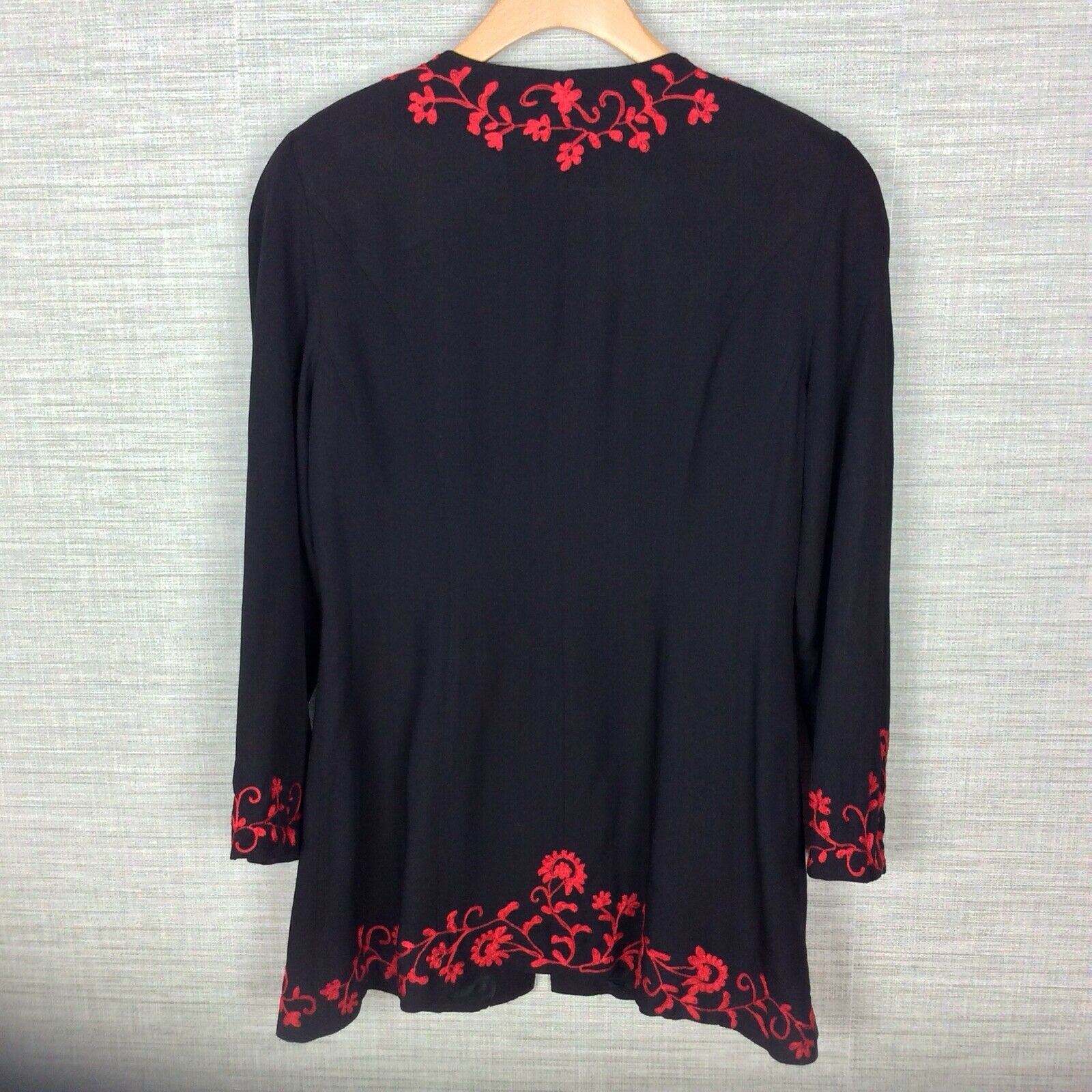 Marie St. Claire Vintage Womens Jacket Black Red … - image 6