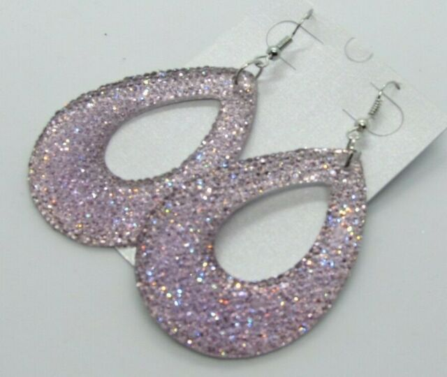 Glitz Glam Blue Diamontrigue Jewelry: Glitter Glitz Glamour Earrings Perfect For Holidays Lilac
