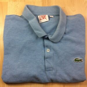 Lacoste L! VE medium (4) bleu solide à manches courtes Polo Shirt Logo Genuine