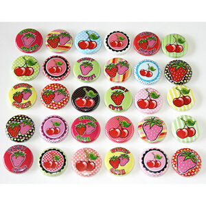 Cute-Kawaii-Berry-Cherries-Badges-x-30-Button-Pins-Wholesale-Lot-25mm-One-Inch