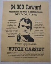 Western Wanted Posters! 11 pc Jesse James Butch Cassidy Sundance Kid Billy the