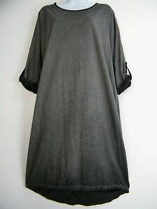 Plus-taille-taille-unique-lagenlook-95-coton-3-4-raglan-slv-italien-robe-en-7-cols
