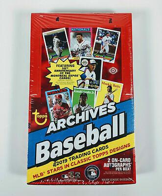 24 Packs//8 Cards: 2 Autographs 2019 Topps Archives Baseball Hobby Box