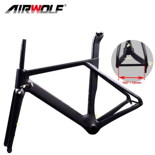 Newest carbon fiber bike disc frame 700C road bicycle carbon frameset 49-56cm