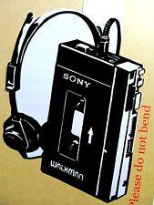 "1979 SONY WALKMAN TPS-L2 Original Pop Art, Vinyl decal Sticker 6""X 8"" inches"