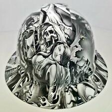 Full Brim Hard Hat Custom Hydro Dipped In Lust After Death Grim Reaper Sick