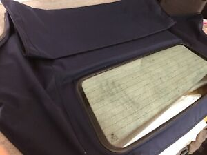 BMW-E46-HOOD-ROOF-WITH-GLASS-REAR-WINDOW-2000-2007-BLUE-MOHAIR-RRP-693
