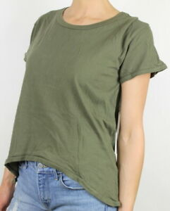 Sun-amp-Shadow-Womens-Slouchy-Short-Sleeve-T-Shirt-Olive-Green-M-New