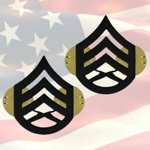 U-S-M-C-STAFF-SERGEANT-CHEVRONS-PAIR-BLACK-SUBDUED-GENUINE-OR-6