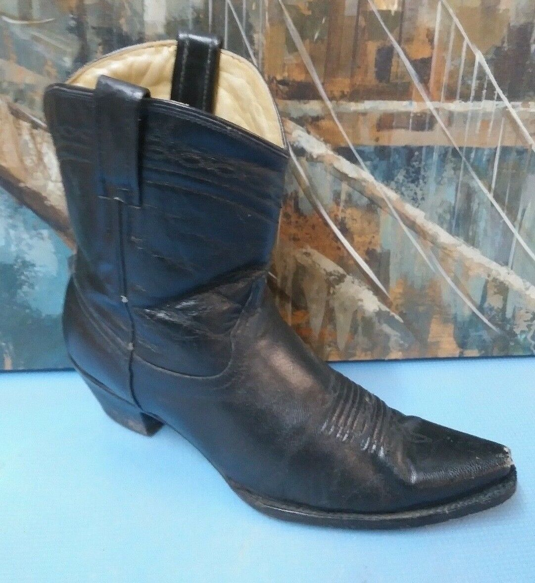 Corral A2410 hombres botas de vaquero occidental de cuero negro M