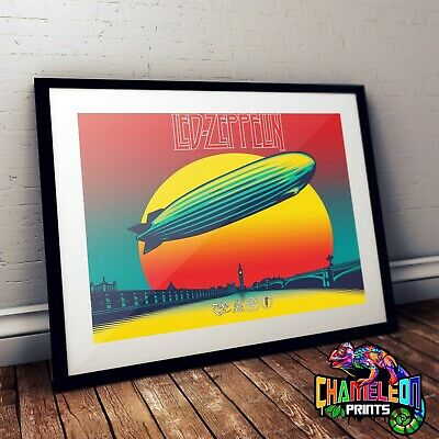 Led Zeppelin Celebration Day Poster Print In A3 A4