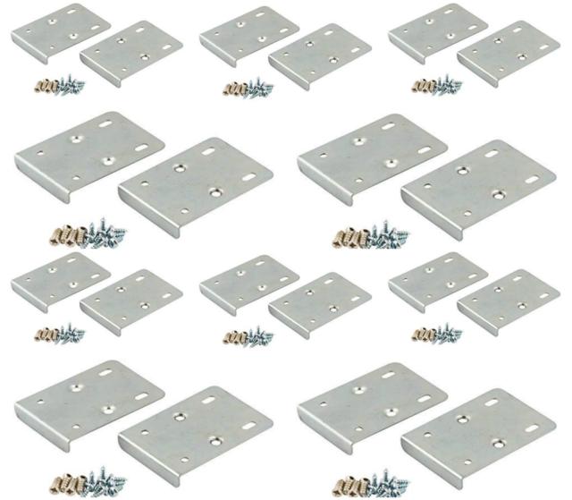 X20 Kitchen Hinge Repair Kit Plate Cupboard Door Cabinet Pair Screws Silver For Sale Online Ebay