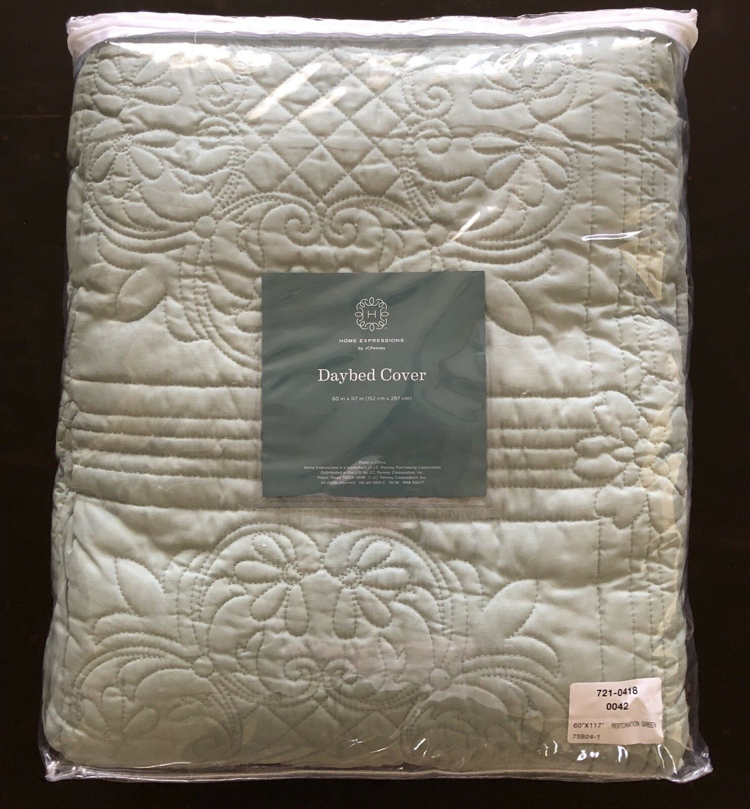 New Home-expressions Sage Green 60x 117 Daybed Cover   140.