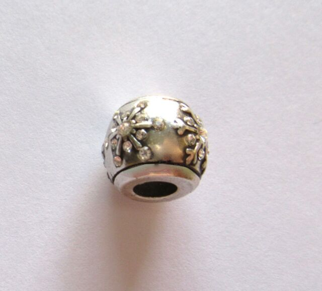Brighton Nordic Star  Spacer Charm silver color- crystal snowflakes- Christmas