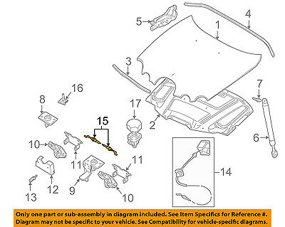 Jaguar New Genuine Bonnet Release Cable XR81957