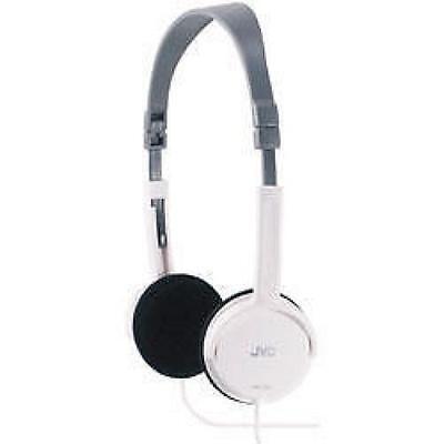 JVC HA-L50 Foldable Light Weight Full Over Ear Stereo Travel Headphones - White