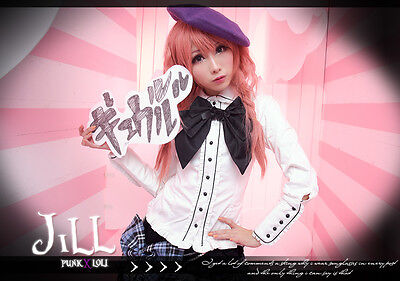 Goth lolita princess diary shepherd painter girl scalloped gentry shirt JM0004