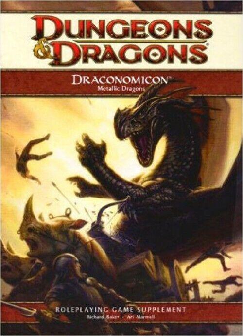 Dungeons & DRAGONS DRAGONES D&D 4th edición Draconomicon Metálico