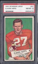 1952 Bowman Large Football #41 Claude Hipps (Pittsburgh Steelers) PSA - 8 NM  MT