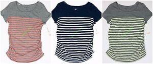 Womens-Maternity-Crew-Neck-Tee-T-Shirt-Top-Liz-Lange-NWT-size-XS-S-M-L-XL-XXL